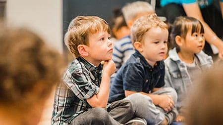 Kids watching teacher