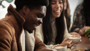 Young Man at Cafe