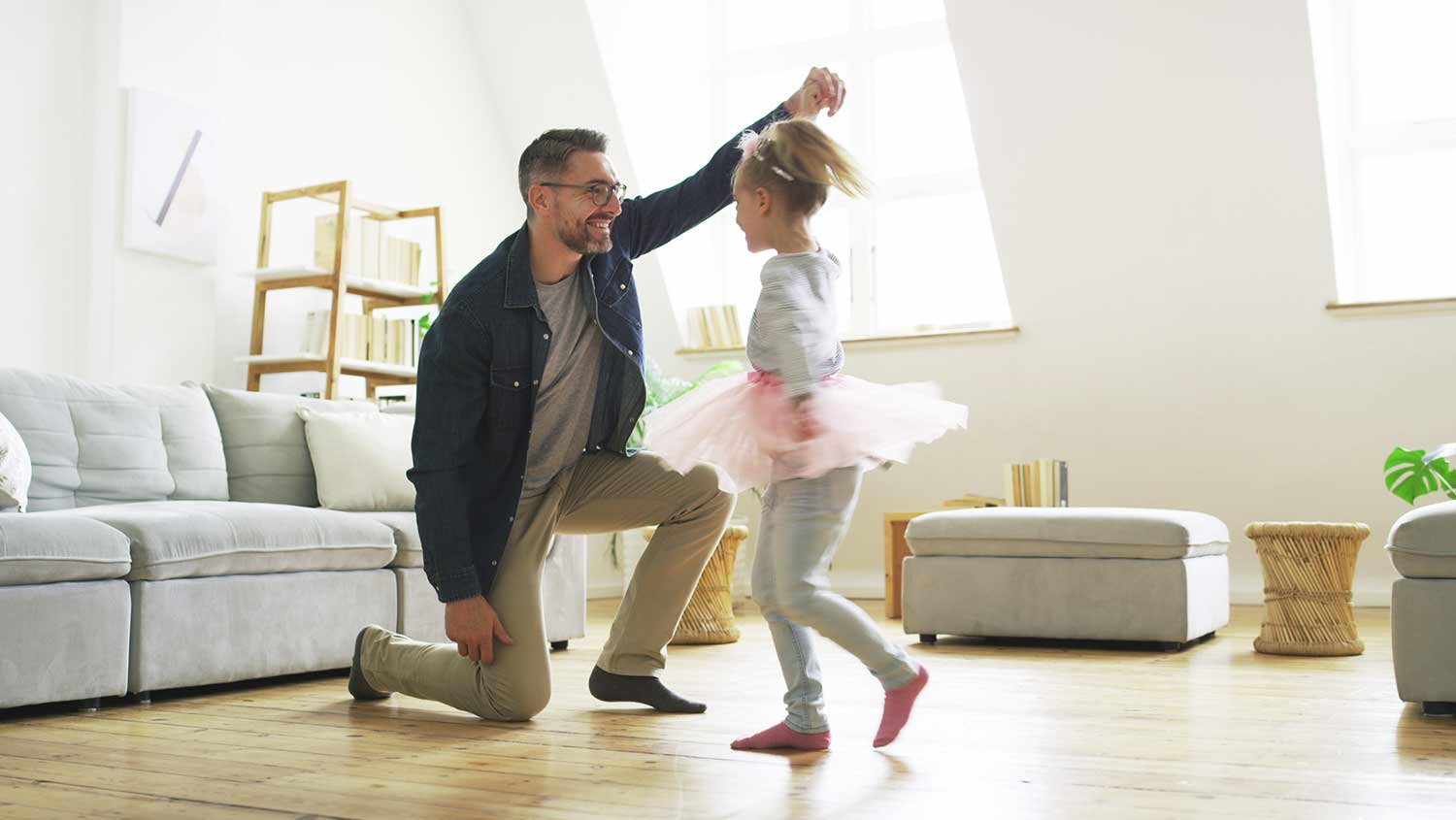 dad and daughter dancing