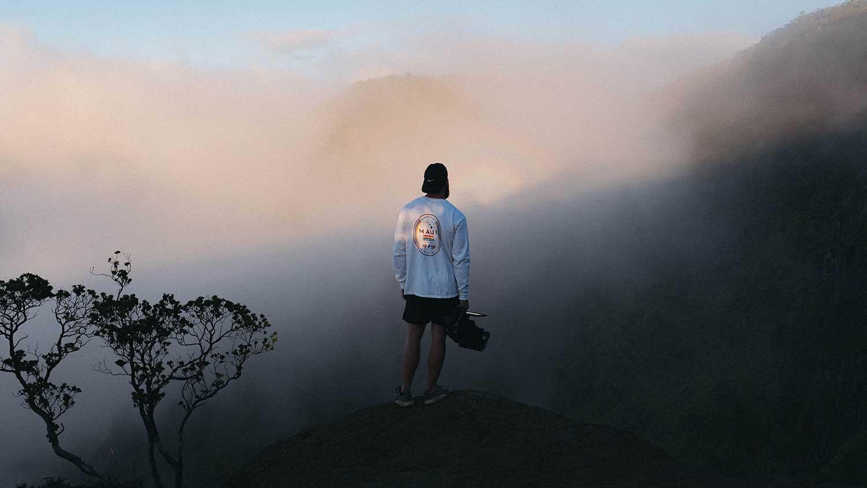 person looking at horizon