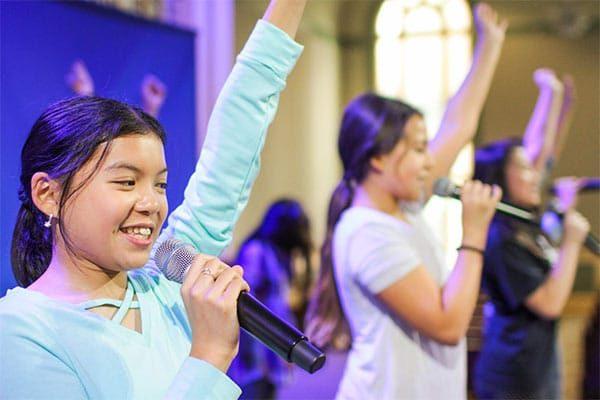 Kids Worship in Church
